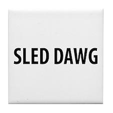 Sled Dawg Snowmobile Tile Coaster