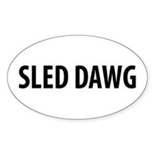 Sled Dawg Snowmobile Oval Decal