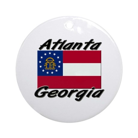Atlanta Georgia Ornament (Round)
