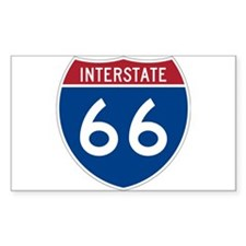 Interstate Route 66 Rectangle Decal