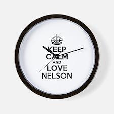 Keep Calm and Love NELSON Wall Clock