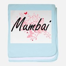 Mumbai India City Artistic design wit baby blanket