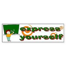 Express Bumper Car Sticker