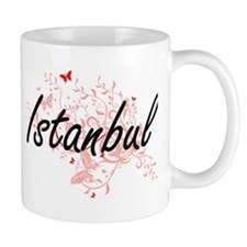 Istanbul Turkey City Artistic design with but Mugs