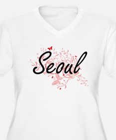 Seoul South Korea City Artistic Plus Size T-Shirt
