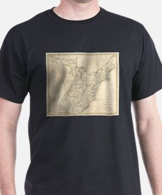 Vintage Map of Early America (1799) T-Shirt