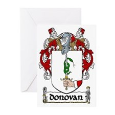 Donovan Coat of Arms Greeting Cards (Pk of 20)
