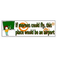 Morons Bumper Car Sticker