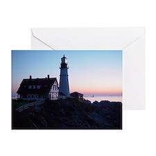 Portland Headlight Greeting Cards (Pk of 20)