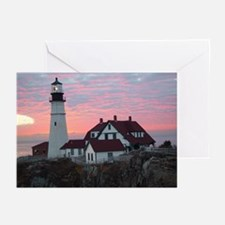 Portland Headlight Greeting Cards (Pk of 10)