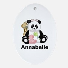 Annabelle's Panda Oval Ornament