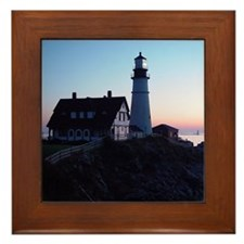 Portland Headlight Daybreak Framed Tile