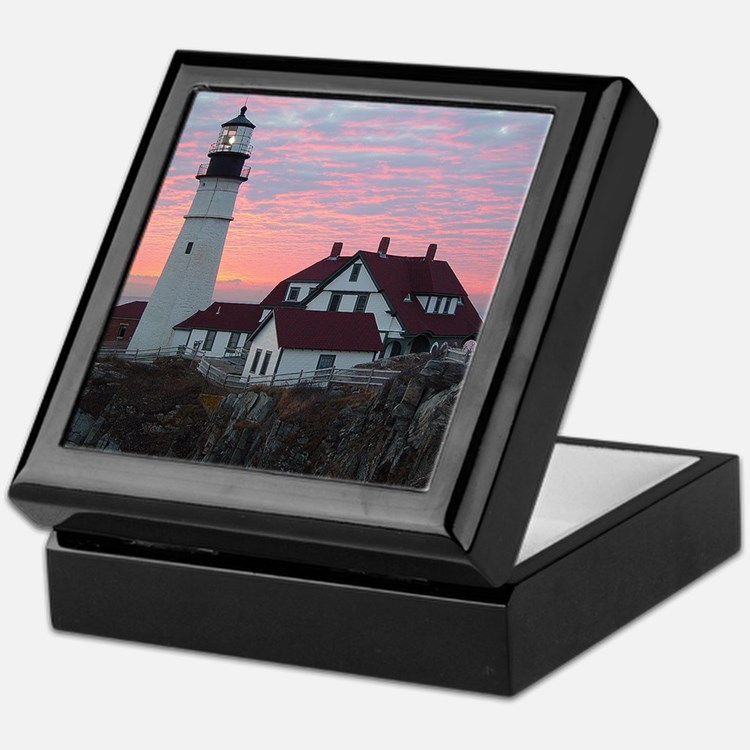 Portland Headlight Sunrise Keepsake Box