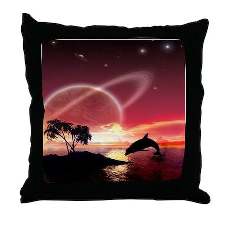 A Dolphins Dream Throw Pillow
