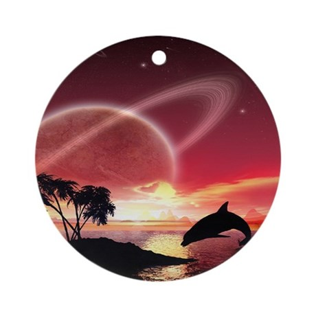 A Dolphins Dream Ornament (Round)