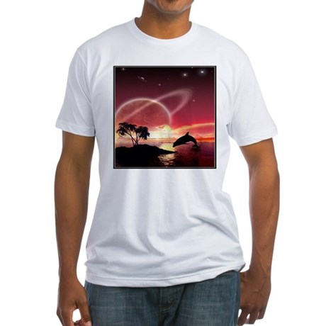 A Dolphins Dream Fitted T-Shirt