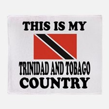 This Is My Trinidad and Tobago Count Throw Blanket