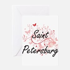 Saint Petersburg Russia City Artist Greeting Cards