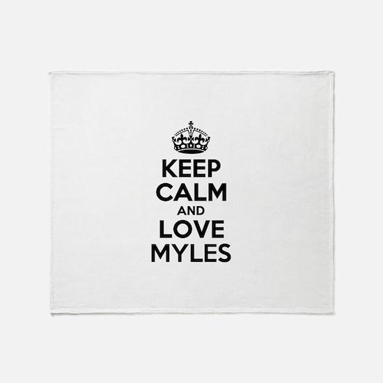 Keep Calm and Love MYLES Throw Blanket