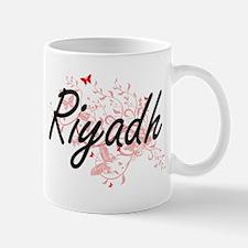 Riyadh Saudi Arabia City Artistic design with Mugs