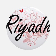 Riyadh Saudi Arabia City Artistic d Round Ornament
