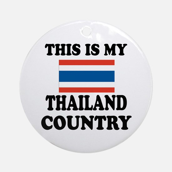 This Is My Thailand Country Round Ornament
