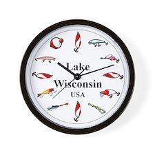 Lake Wisconsin clocks Wall Clock