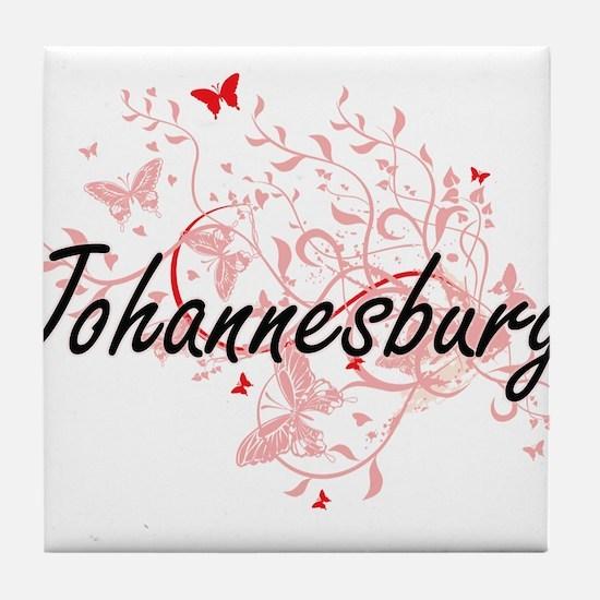 Johannesburg South Africa City Artist Tile Coaster