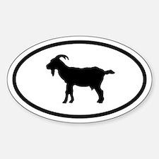 Goat Oval Bumper Stickers