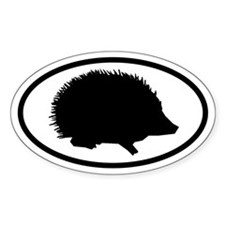 Hedgehog Oval Bumper Stickers