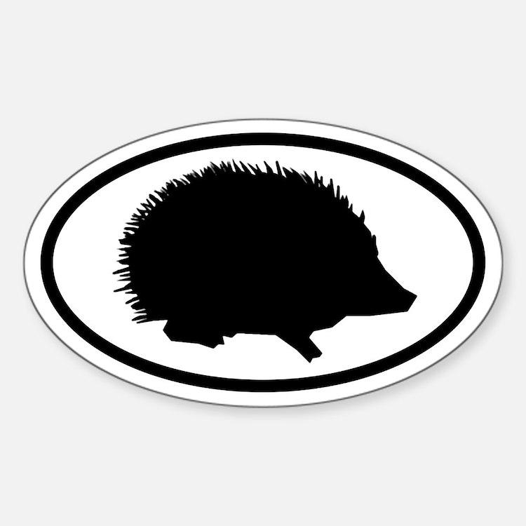 Hedgehog Oval Decal