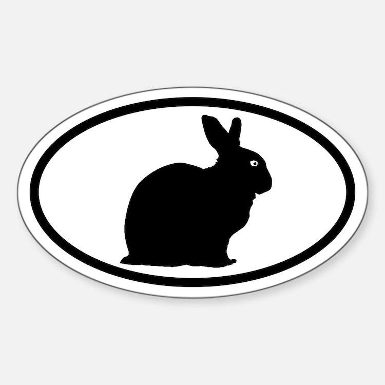 Bunny Rabbit Oval Decal