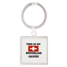 This Is My Switzerland Country Square Keychain