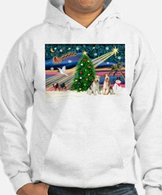 Xmas Magic & Wire Fox T pair Hoodie