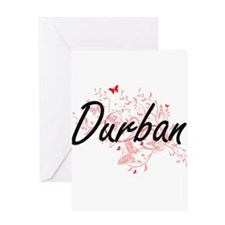 Durban South Africa City Artistic d Greeting Cards