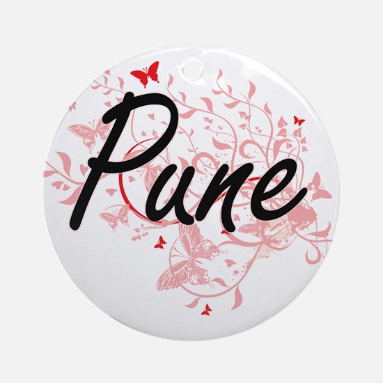 Pune India City Artistic design wit Round Ornament