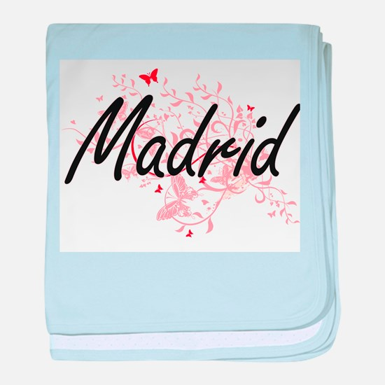 Madrid Spain City Artistic design wit baby blanket