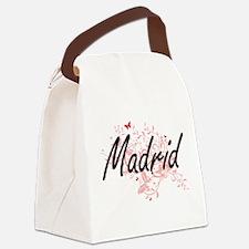 Madrid Spain City Artistic design Canvas Lunch Bag