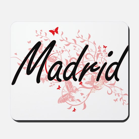 Madrid Spain City Artistic design with b Mousepad