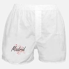 Madrid Spain City Artistic design wit Boxer Shorts