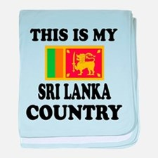 This Is My Sri Lanka Country baby blanket