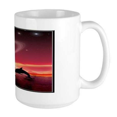 A Dolphins Dream Large Mug