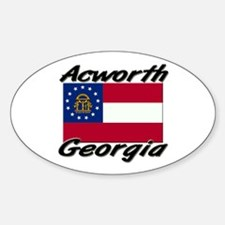 Acworth Georgia Oval Decal