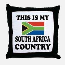 This Is My South Africa Country Throw Pillow