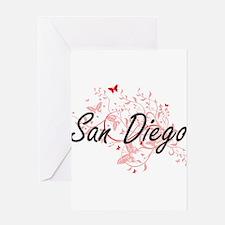 San Diego California City Artistic Greeting Cards