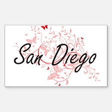 San Diego California City Artistic design Decal