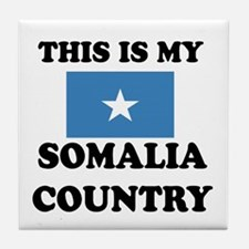 This Is My Somalia Country Tile Coaster