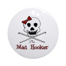 The Mad Hooker Logo Ornament (Round)