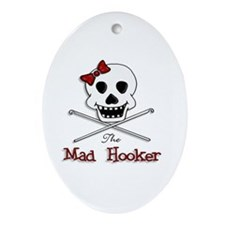The Mad Hooker Logo Oval Ornament