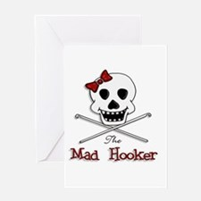 The Mad Hooker Logo Greeting Card